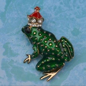 Jewelry - NWOT Frog Prince Brooch